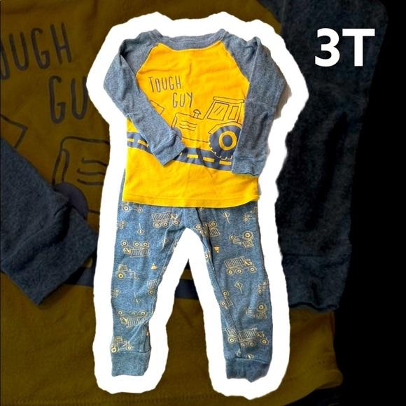 "Construction Pajamas 3T ""tough guy"""